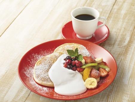 HPリコッタパンケーキ、コーヒー合成